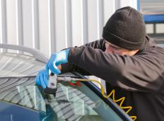 A professional may be required to repair a windshield stress crack.