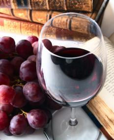 Red wine contains beneficial anti-oxidants.