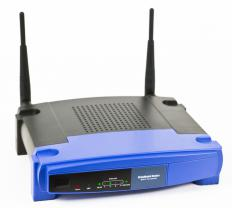 A wireless router, which interacts with a network interface card.