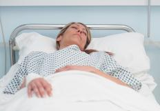 An inpatient stays in the hospital at least one night for treatment.
