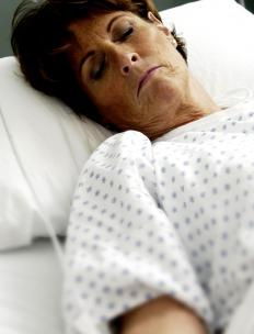 Unlike someone in a coma, a person in a persistent vegetative state can still be considered alert.