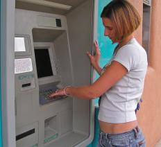 A person may be charged with an activity charge for using an ATM.