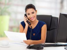 Virtual secretaries provide support to a business from a remote location.