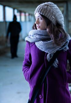 Scarves are often worn along with hats and gloves to keep warm.