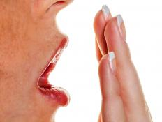 Post-nasal drip can contribute to bad breath.