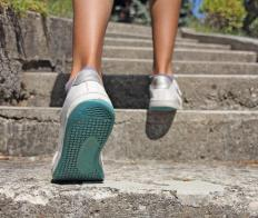 Stair climbing is a great way to stretch the gluteal muscles.