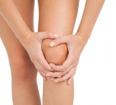Excessive exercise can cause strains in the knee.