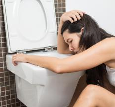 Exercising at too high an intensity can cause vomiting.