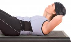Bench crunches require lifting the head, neck, and shoulders with just the abdominal muscles.