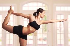 Bikram yoga is practiced in a room that's at least 105 degrees Fahrenheit.