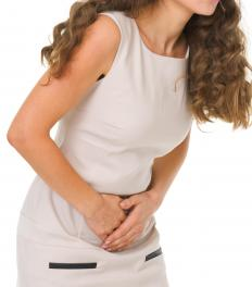 Irritable bowel syndrome can cause bowel distension and stomach cramps.