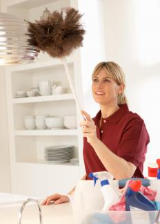 Many housekeepers work part-time for several households providing routine cleaning.