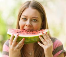 Foods such as watermelons have a positive affect on water retention.