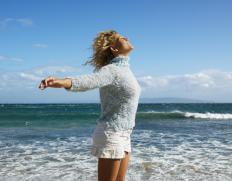 Coastal breezes can help circulate air and make it feel less humid.