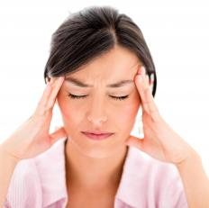 A headache may accompany a visual migraine.