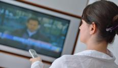 A video transmitter picks up a signal and delivers it to a screen, such as a television set.