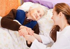 Sometimes family members provide long term care.