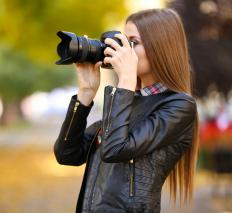 Digital SLR cameras may offer a feature for taking panoramic photos.
