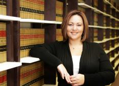 The public defender researches matters of law pertinent to the case at hand.