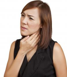 A cricopharyngeal spasm is distinguishable when a person has a chronic feeling of having a lump in the throat.