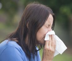 Excess nasal mucous may be caused by allergies.