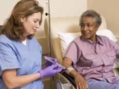 A caregiver or visiting nurse can sometimes administer chemotherapy treatment at a patient's home.