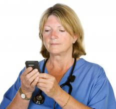 Hospitals often issue text pagers to staff so they can be notified in case of emergency.