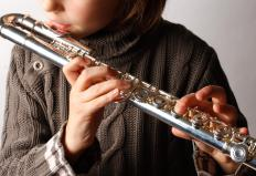 Flutes are woodwind instruments.