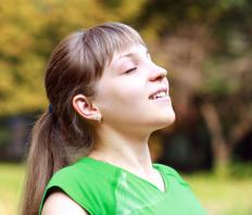 Deep breathing strengthens the breathing muscles and allows more oxygen to enter the blood.