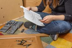 Flatpack furniture often comes with pilot holes, both to show people how to assemble the furniture and to minimize the requirement for extra tools.
