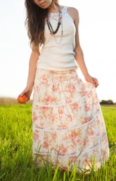 Boho chic is often characterized by billowy skirts and dresses.
