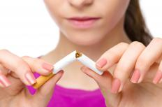 People should avoid smoking to manage palpitations and coughing.