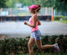 A person not properly conditioned may get side cramps when running.