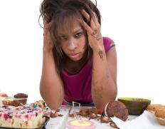 A woman suffering with an eating disorder may experience a light period.