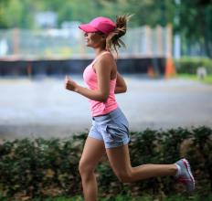 Jogging can help with strengthening thigh muscles.