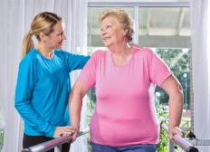 Some occupational therapy aides help patients accomplish daily activities.
