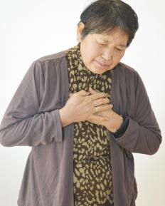 Shortness of breath and chest pain may be experienced following a bite.