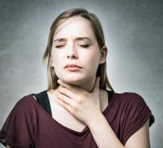 Breathing and speaking difficulties may result from laryngeal nerve damage.