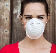 Face masks are recommended in areas of poor air quality.