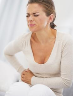 Patients with stomach cancer may experience painful stomach nodules.