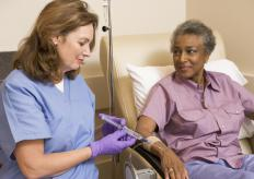Chemo patients may use a triple lumen catheter.