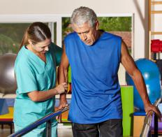 Physical therapy, one type of clinical therapy, helps people who have been seriously injured.