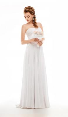 A basque waist is a style commonly found on wedding gowns.