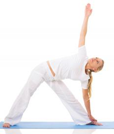 "Yoga poses like the ""triangle"" can benefit the erector spinae muscles."