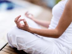 Meditation cushions can help improve posture while meditating.