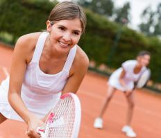 The repetitive motions used in tennis can cause tennis elbow or a similar injury.