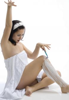 Warm shaving cream can make leg shaving more comfortable.