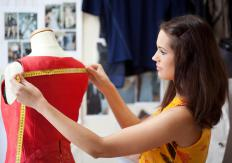 Draping usually begins by taking a basic garment and placing it over a dressmaking dummy.