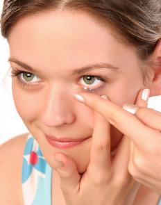 Orthokeratology uses hard contact lenses.