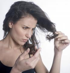 Brushing wet hair can cause split ends.